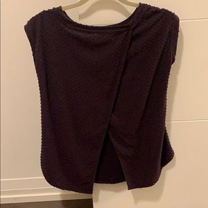 Aritzia drape back t shirt